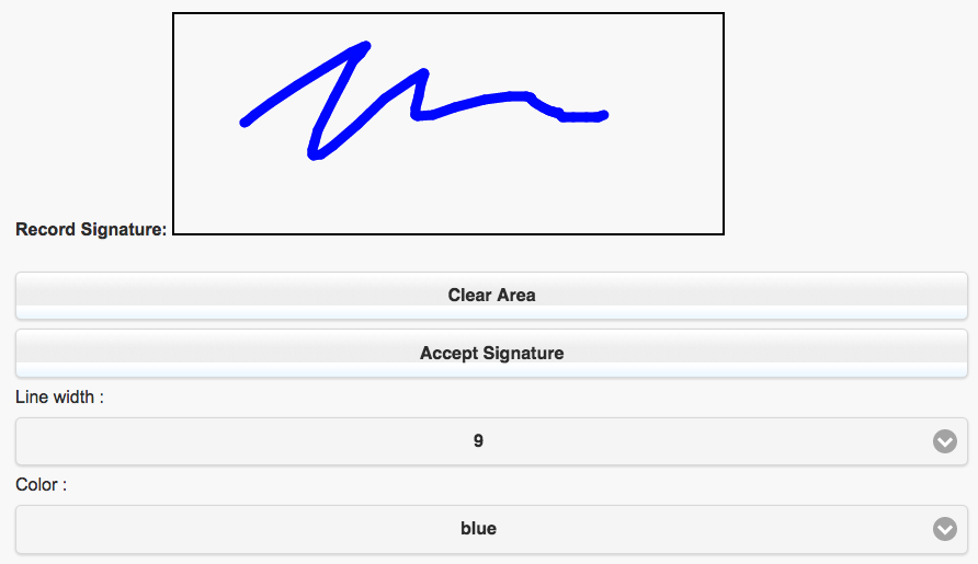 Visualforce Signature Component with HTML5 Canvas